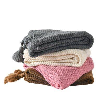 Knitted Wool Blanket