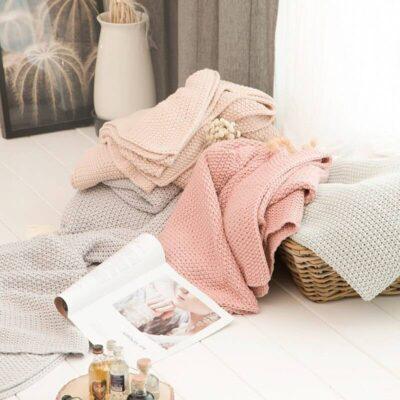 100% Cotton Nordic Style Throw Blanket