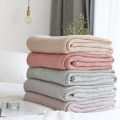 100% Cotton Nordic Style Throw Blanket