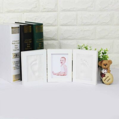 Cute Photo Frame for Baby Footprint or Hand Print
