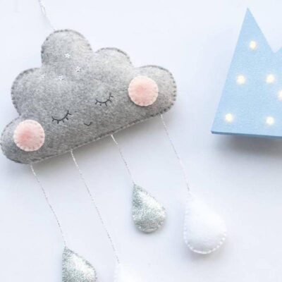 Cute Smiling Clouds for Kids Room