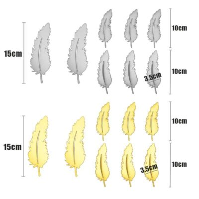 Feather Design 3D Mirror