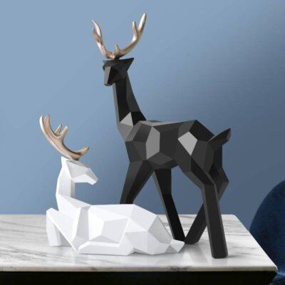 Geometric Deer Sculpture for Home Decoration
