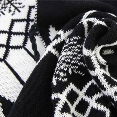 Geometric Soft Cotton Blanket and Pillowcase