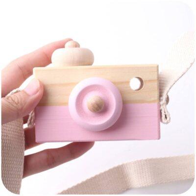 Hanging Wooden Camera for Kids Room