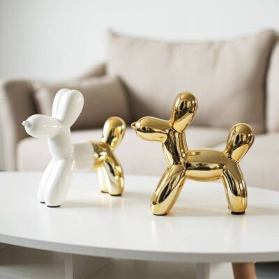 Nordic Ceramic Animal Balloon Dog Figurine