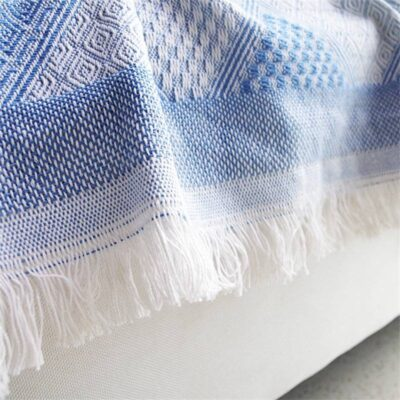 Nordic Geometry Throw Blanket