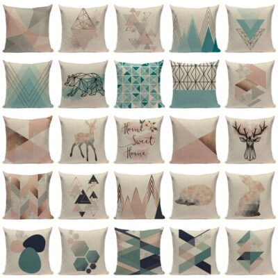 Nordic Pop Geometric Pillowcase