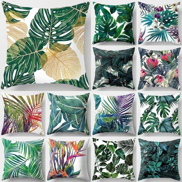 Tropical Plant Green Pillowcase