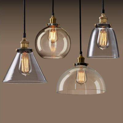 Vintage Nordic Style Glass Pendant Lamps for Home Decor