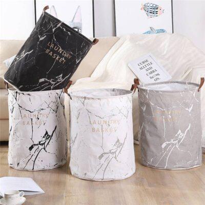 Cotton Linen Folding Laundry Basket