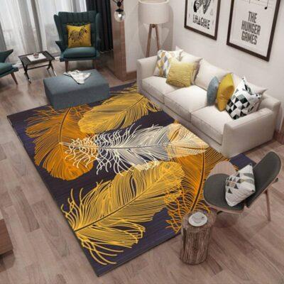 Nordic Geometric Feather Carpet