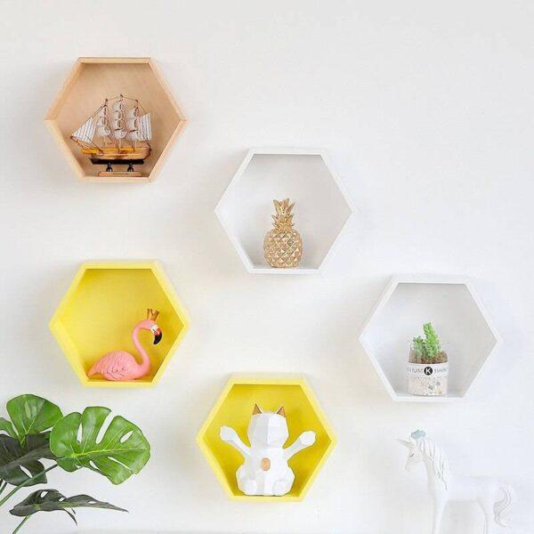 Nordic Hexagon Wall Shelf