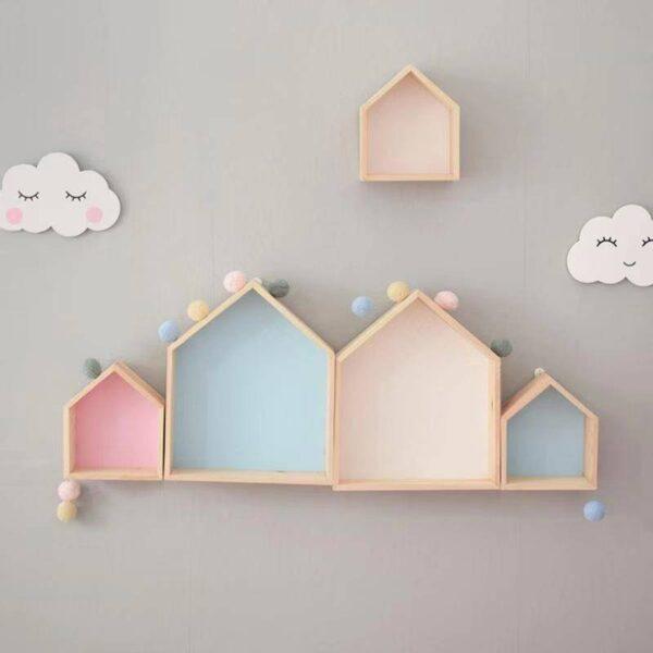 Wooden Wall Shelf for Kids Room
