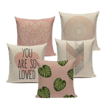 Pinkish Geometric Nordic Pillowcase